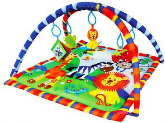 """Коврик Жирафики развивающий """"Весёлое сафари"""" 5 развивающих игрушек, с книжкой-шуршалкой 939312"""