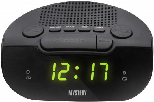 Радиобудильник MYSTERY MCR-21 чёрный зеленая подсветка