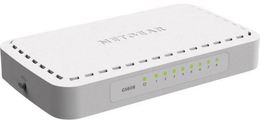 Коммутатор NETGEAR GS608-400PES неуправляемый 8 портов 10/100/1000Mbps