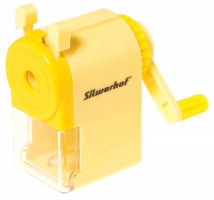 Точилка Silwerhof 192003 пластик желтый