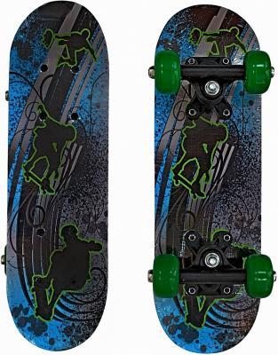 Скейтборд RT  43х13 Скейтбордисты зеленые колеса 89764