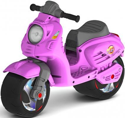Каталка-мотоцикл RT Скутер розовый ОР502