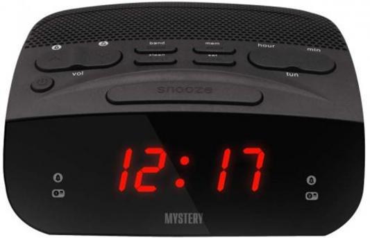 Часы с радиоприёмником MYSTERY MCR-23 чёрный красная подсветка