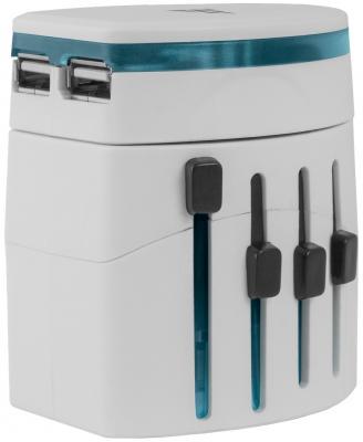 Сетевое зарядное устройство Defender EPC-21 2 х USB 2.1A белый 29701