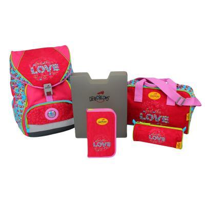Ранец с наполнением DERDIEDAS ErgoFlex Настоящая любовь 20.5 л розовый