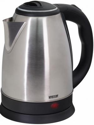 Чайник MYSTERY MEK-1601 1800 Вт серебристый чёрный 1.7 л нержавеющая сталь чайник kitchenaid kten20sbob чёрный 1 9 л нержавеющая сталь