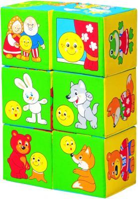 Купить Кубики МЯКИШИ Сказки в картинках 6 шт в ассортименте 350, Кубики и стенки