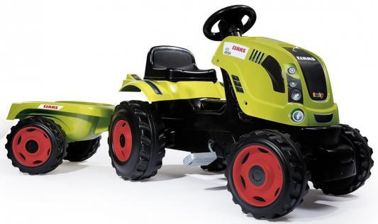 Трактор педальный Smoby XL с прицепом, CLAAS, 142*44*54,5см 710114 smoby горка xl
