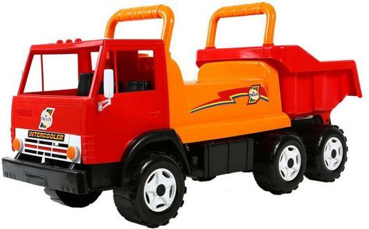 Каталка-самосвал Rich Toys Intercooler ОР412 красный от 10 месяцев пластик каталка машинка rich toys джипик police пластик от 8 месяцев с клаксоном красный ор105