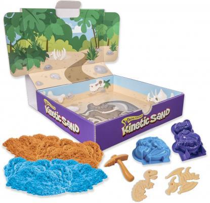 Набор для лепки Kinetic Sand Кинетический песок c формочками, 340 грамм динозавры от 123.ru