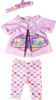 Одежда для кукол Zapf Creation Baby born - Удобная одежда для дома 823545 одежда для кукол zapf creation baby born халат с капюшоном веш
