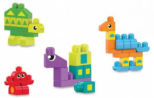 Конструктор MEGA BLOKS First Builders Разные формы 40 элементов mega bloks mega bloks конструктор обучающий для малышей разные формы