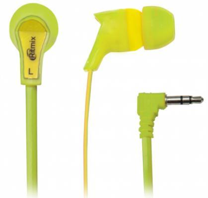 Наушники Ritmix RH-013 желтый зеленый