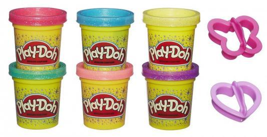 Набор для лепки Hasbro Play-Doh 6 баночек Блестящая коллекция A5417