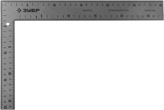 Фото - Угольник Зубр Эксперт 3434-30 30 см нержавеющая сталь плотницкий угольник плотницкий зубр 1000х400мм эксперт 3437 100