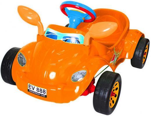 Машина педальная RT Молния с музыкальным рулем оранжевая ОР09-903