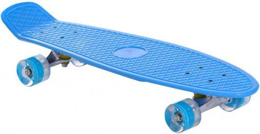"""Скейтборд RT Classic 26"""" 68х19 YWHJ-28 пластик со светящимися колесами цвет голубой 171205"""