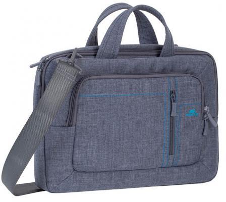Сумка для ноутбука 13.3 Riva 7520 полиэстер серый сумка для ноутбука 10 riva 8010 полиэстер черный