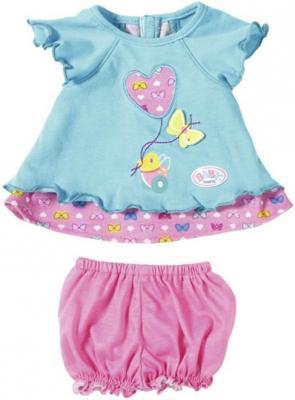 Одежда для кукол Zapf Creation Baby Born - Туника с шортиками 823-552 в ассортименте куклы и одежда для кукол zapf creation baby born детское питание 12 пакетиков