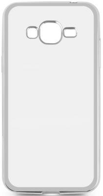 Чехол силиконовый DF sCase-36 для Samsung Galaxy J2 Prime/Grand Prime 2016 с рамкой серебристый силиконовый чехол для samsung galaxy j2 prime grand prime 2016 df scolorcase 02 black