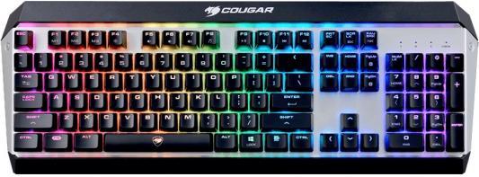 где купить  Клавиатура проводная Cougar Attack X3 RGB-Brown switch USB черный серебристый  дешево