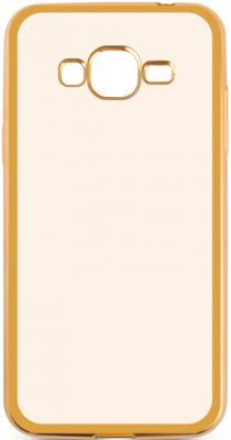 Чехол силиконовый DF sCase-36 для Samsung Galaxy J2 Prime/Grand Prime 2016 с рамкой золотистый аксессуар чехол samsung galaxy j2 prime grand prime 2016 df scase 34