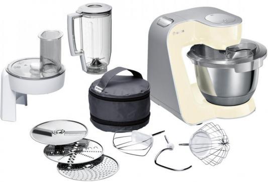 Кухонный комбайн Bosch MUM58920 серебристо-ванильный кухонный комбайн bosch mcm3110w mcm3110w
