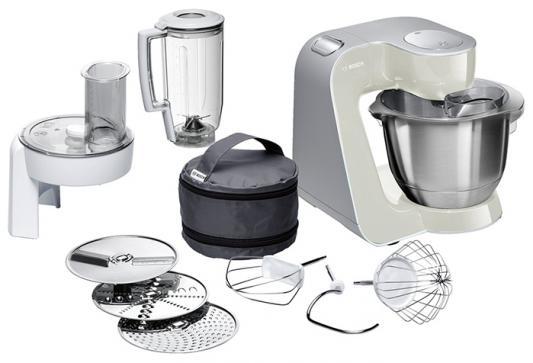 Кухонный комбайн Bosch MUM58L20 серебристо-серый кухонный комбайн bosch mcm3110w mcm3110w