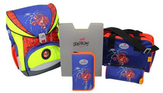 Ранец с наполнением DERDIEDAS Ergoflex Safety Алый скорпион 20.5 л разноцветный порошки набор магнитных закладок девочковый