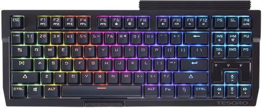 Клавиатура проводная Tesoro Tizona Spectrum BK/BL USB черный мышь tesoro sharur spectrum white usb [ts h3l se]