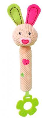 Купить Пищалка-прорезыватель Жирафики Зайка Полли 939318 разноцветный с рождения пищалка, текстиль, резина, унисекс, Прорезыватели