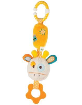 Развивающая игрушка Жирафики Подвеска с колокольчиком и прорезывателем Жирафик Дэнни 939364 жирафики развивающая игрушка подвеска бабочка муз