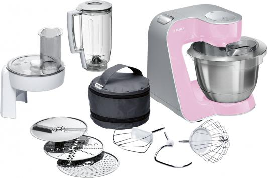 Кухонный комбайн Bosch MUM58K20 серебристо-розовый кухонный комбайн bosch mcm3200w