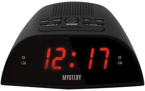 Часы с радиоприёмником MYSTERY MCR-48 чёрный