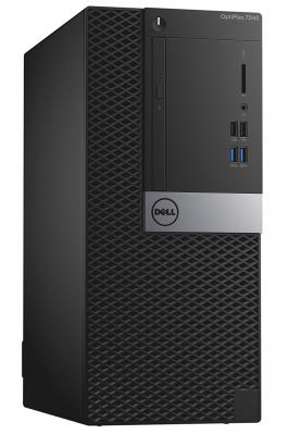 Системный блок DELL OptiPlex 7040 MT i5-6500 3.2GHz 8Gb 500Gb Radeon R5-2Gb DVD-RW Win10Pro клавиатура мышь черный 7040-8463