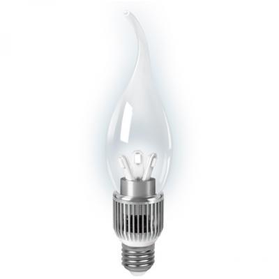 Лампа светодиодная диммируемая E27 5W 2700K свеча на ветру прозрачная HA104202105-D