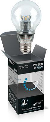 Лампа светодиодная шар Gauss HA105202207-D E27 7W 4100K
