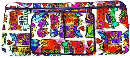 Чехол-портмоне Y-SCOO 145 КОШКИ разноцветный