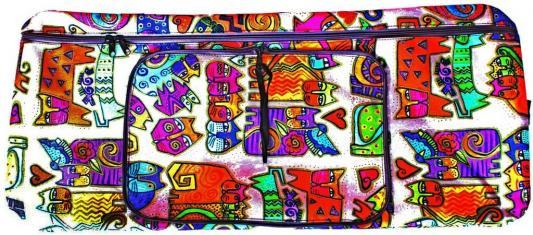 Чехол-портмоне Y-SCOO 180 КОШКИ разноцветный