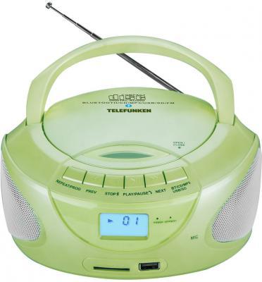 Магнитола Telefunken TF-CSRP3490B зеленый