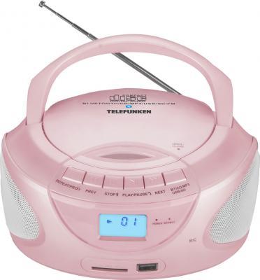 Магнитола Telefunken TF-CSRP3490B розовый