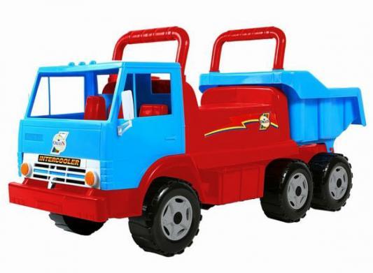 Каталка-самосвал Rich Toys Intercooler ОР412 сине-красный от 10 месяцев пластик каталка машинка rich toys джипик police пластик от 8 месяцев с клаксоном красный ор105