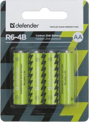 Батарейки Defender R6-4B AA 4 шт 56112 l r defender 110