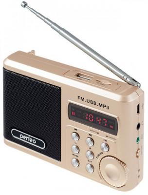 Портативная акустика Perfeo Sound Ranger 2 Вт FM MP3 USB microSD BL-5C 1000mAh золотистый SV922AU