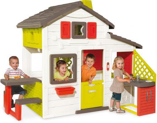 Игровой домик Smoby с кухней 810200 горки smoby мега