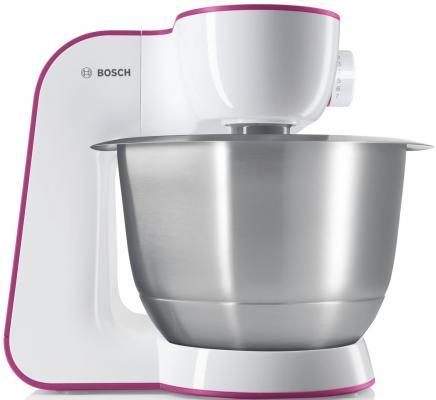 Кухонный комбайн Bosch MUM54P00 бело-розовый цена 2017