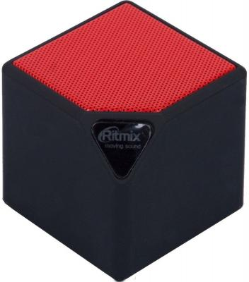 Портативная акустика Ritmix SP-140B черно-красный портативная колонка ritmix sp 140b black
