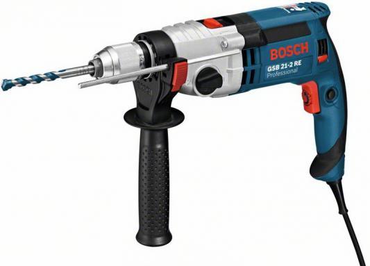 Ударная дрель Bosch GSB 21-2 RE 1100Вт дрель ударная bosch gsb 21 2 re 0 601 19c 500
