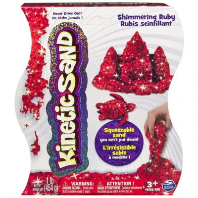 Тесто для лепки Kinetic Sand красный 1 цвет