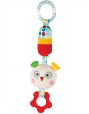 Развивающая игрушка Жирафики Подвеска с колокольчиком и прорезывателем Совёнок Бонни 939371 жирафики развивающая игрушка подвеска бабочка муз